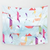 fly Wall Tapestries featuring fly  by sandesign