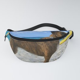 BOXER DOG SURFER BEACH BUM AND FRIEND Fanny Pack