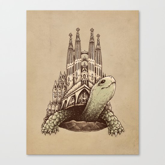Slow Architecture Canvas Print