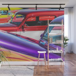 Candy Color Hot Rods, Tasty Automotive Art by Murray Bolesta Wall Mural