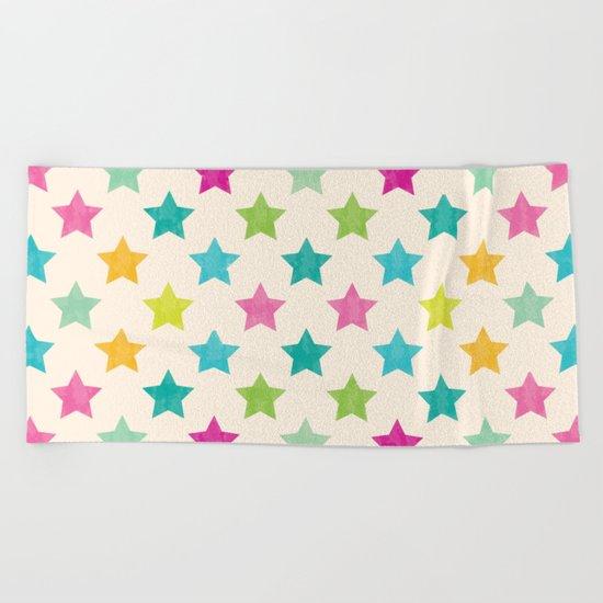 Colorful Star Beach Towel