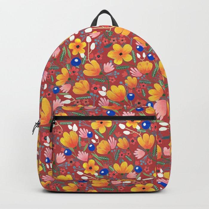 Orange Flowers 2 Backpack