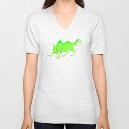Drip and Drool - Werewolf  (Neon Green) Unisex V-Neck