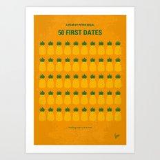 No696 My 50 First Dates minimal movie Art Print