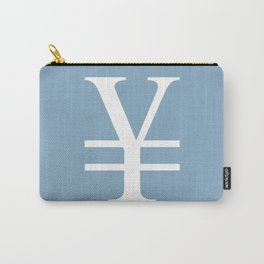 yuan currency sign on placid blue background Carry-All Pouch