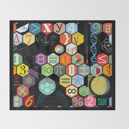 Math in color Black B Throw Blanket