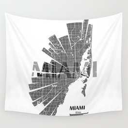 Miami Map Wall Tapestry