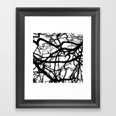 black branches Framed Art Print