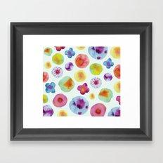 Flower Drops Framed Art Print