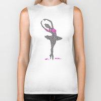 ballerina Biker Tanks featuring BALLERINA by Grazemee
