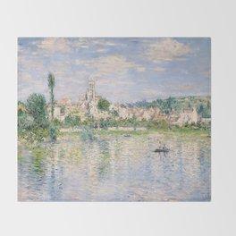 Vetheuil in Summer 1880 by Claude Monet Throw Blanket