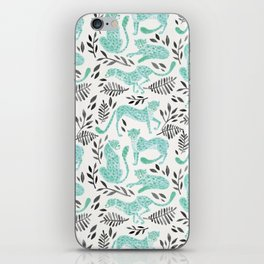 Cheetah Collection – Mint & Black Palette iPhone Skin