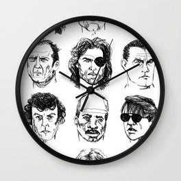 80s Action Stars Wall Clock
