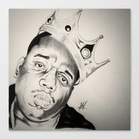 notorious big Canvas Prints featuring Notorious Big  by Jamal Beasy
