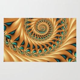 Fractal Splendor, Modern 3D Art Rug