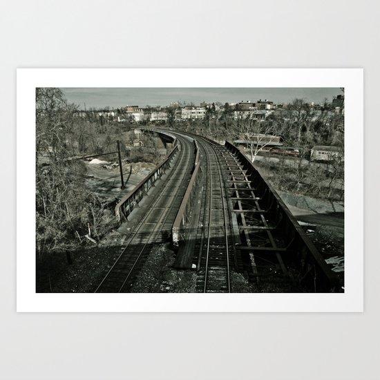Tracks Revisited Art Print