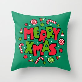 Merry Christmas! Typography design Throw Pillow