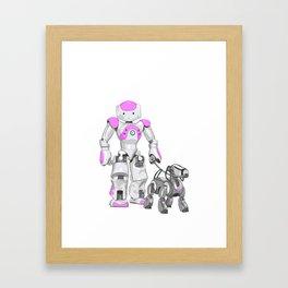 The Dog Walker. (Pink) Framed Art Print