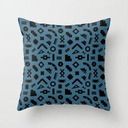 Desert Dream Elements 1 in Evergreen + Black Throw Pillow