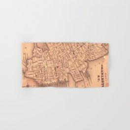 Vintage Map of Charleston South Carolina (1849) Hand & Bath Towel