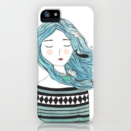 Whales in my hair iPhone Case