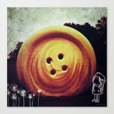 UFO button Canvas Print