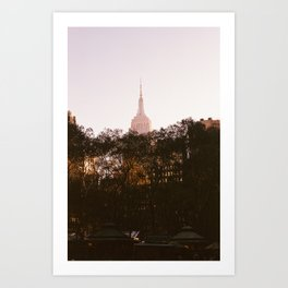 Pink Empire State Art Print