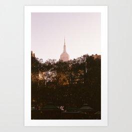 Pink Empire State Art Print