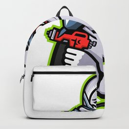Industrial Spray Painter Mascot Backpack