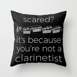 Fearless clarinetist (dark colors) Throw Pillow