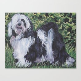 Tibetan Terrier dog art from an original painting by L.A.Shepard Canvas Print