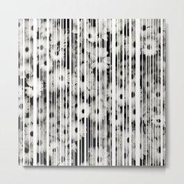 Flower Bars Metal Print