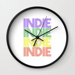 Indie  TShirt Retro Music Shirt Vintage Beats Gift Idea Wall Clock