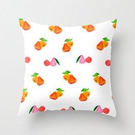Jambu II (Wax Apple) - Singapore Tropical Fruits Series Throw Pillow
