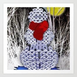 Celtic Knot Snowman Art Print