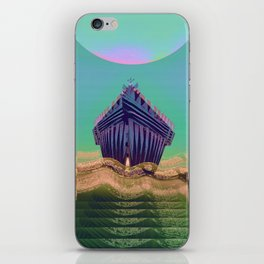 Surfing The Big Wave Searching Mermaids iPhone Skin