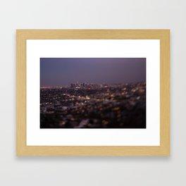 Angel City Lights (L.A. at Night) Framed Art Print