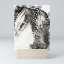 Snowhorse Mini Art Print