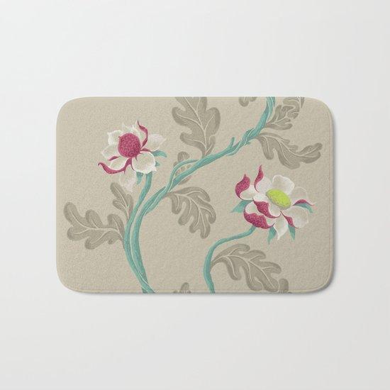 Filigree Floral Bath Mat