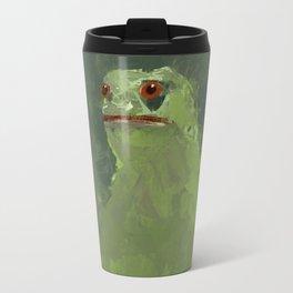 Frog simple illustration texture painting pepe Travel Mug