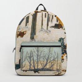 Anna Mary Robertson 'Grandma' Moses Sugaring Off American Folk Art Backpack