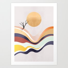 The Flowing Pale Desert Art Print