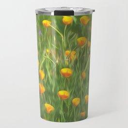 California poppy floral natural pattern Travel Mug