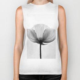 XRAY FLOWER [transparent black white poppy petals] Biker Tank