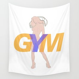 GYM Woman 4 Wall Tapestry