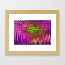 On the Purple Wire Framed Art Print