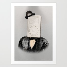 Faces of the Past: Mp3 Player Art Print