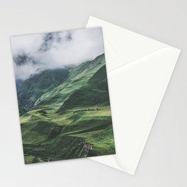 Caucasus Mountans, Kazbegi, Georgia Stationery Cards