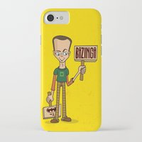 bazinga iPhone & iPod Cases featuring Bazinga by maykel nunes