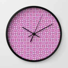 Lines and Shapes - Fuscia Wall Clock
